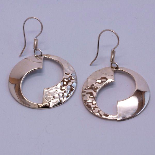 Pendientes circulares de Hechizo de Plata joyeria de plata