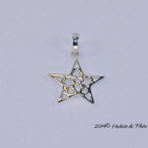 Colgante de plata en estrella de Hechizo de Plata Joyería