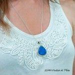 Colgante de plata con calcedonia azul de Hechizo de Plata Joyería
