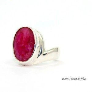 Anillo de plata con rubí de Hechizo de plata Joyería