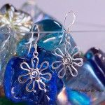 Pendientes de plata flor de Hechizo de Plata Joyería