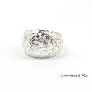 Anillo de plata con filigrana de Hechizo de Plata joyería