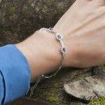pulsera de plata con circonitas azules de Hechizo de Plata Joyería