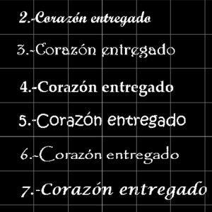 Tipos de letra para las pulseras de Hechizo de Plata Joyería