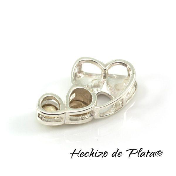 Colgante de Plata en Corazón con Citrino de Hechizo de Plata Joyería