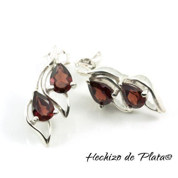 Pendientes de Plata con Cuarzo ahumado de Hechizo de Plata Joyería