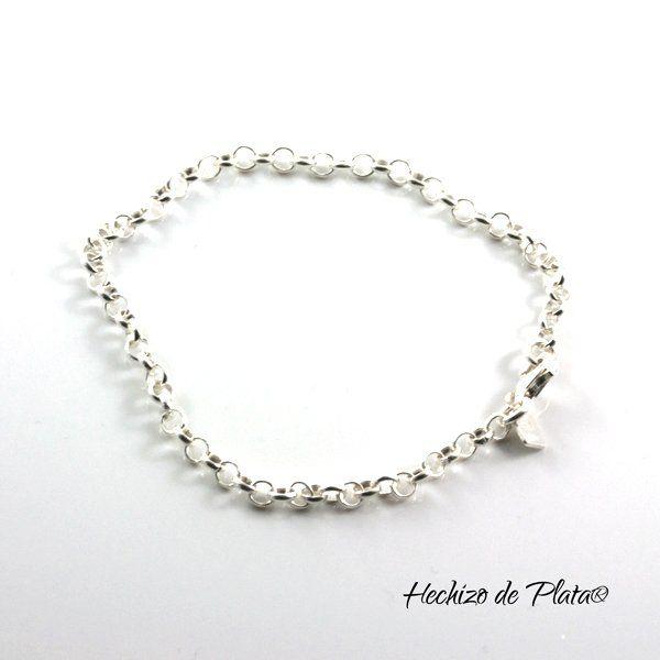 Pulsera personalizable de plata  para amuletos de Hechizo de Plata Joyería