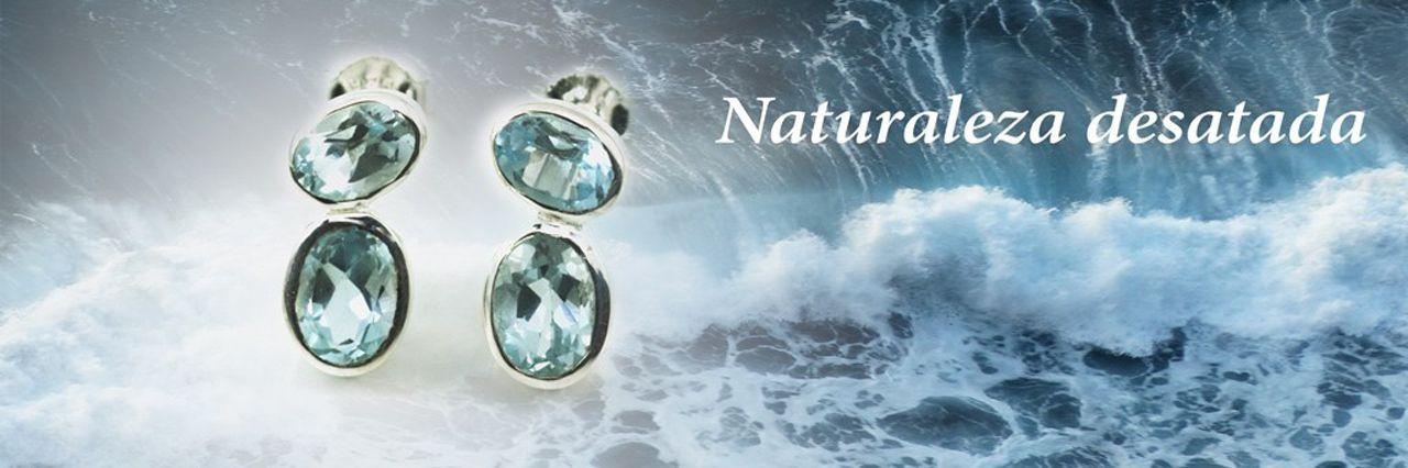 Pendientes de plata y gemas de Hechizo de Plata Joyería
