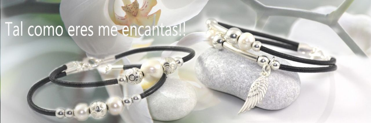 Pulseras de cuero y perlas de Hechizo de Plata Joyería