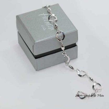 Pulsera de plata con circulitos de Hechizo de Plata Joyería