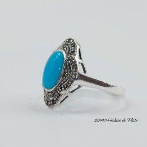 Anillo de plata con nácar azul de Hechizo de Plata Joyería