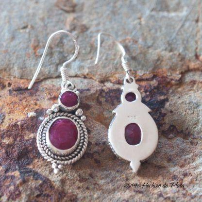 Pendientes de plata con rubí de Hechizo de Plata Joyería