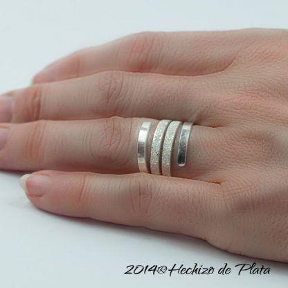 Anillo de plata lisa De Hechizo de Plata Joyería