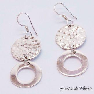 Pendientes de plata lisa de Hechizo de Plata joyería