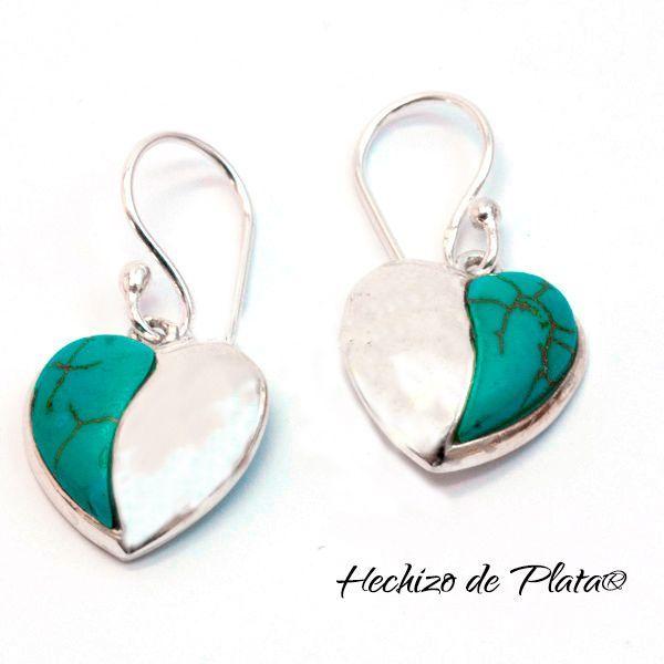 Pendientes de plata corazón de Hechizo de Plata Joyería