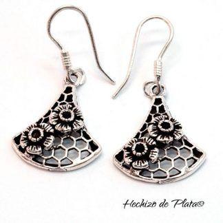 Pendientes de plata 925 étnicos de Hechizo de Plata Joyería