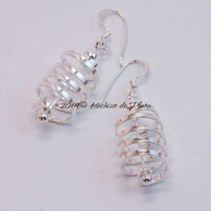 Pendientes de plata tirabuzón de hechizo de Plata Joyería