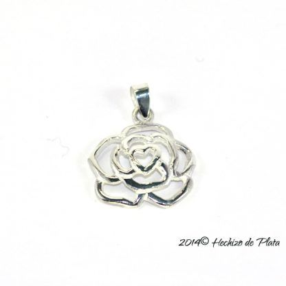 Colgante de plata en rosa de Hechizo de Plata Joyería
