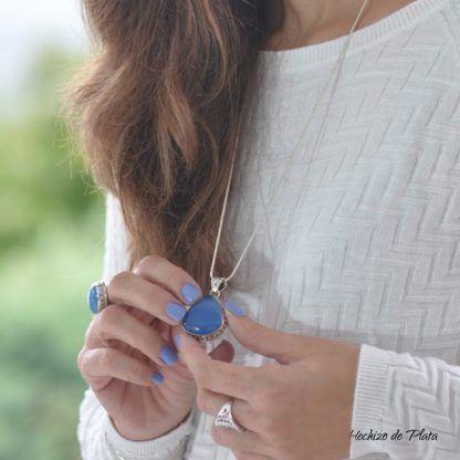 Colgante de plata amuleto de Hechizo de Plata Joyería
