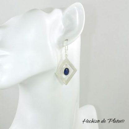 Pendientes de plata con zafiro azul de Hechizo de Plata Joyería