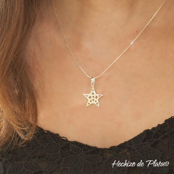 Colgante estrella de plata de Hechizo de Plata joyería