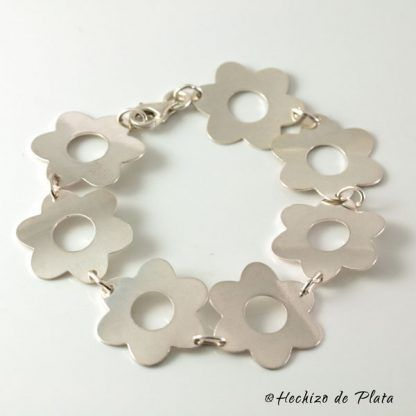 Pulsera de plata original en flores de hechizo de Plata Joyería