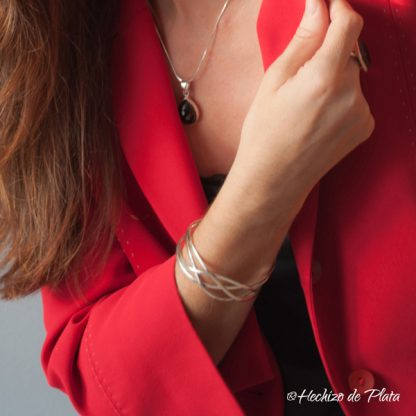 brazalete de plata de Hechizo de Plata joyería