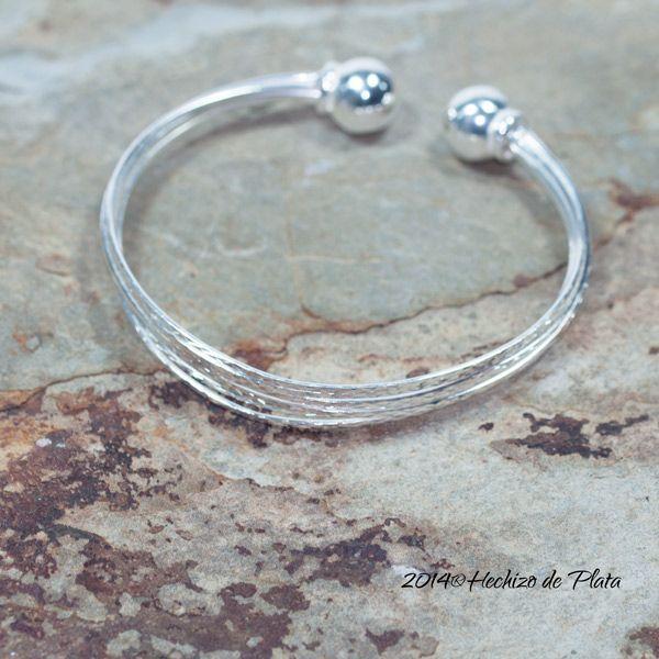 Pulsera de plata diamantada de Hechizo de Plata Joyería