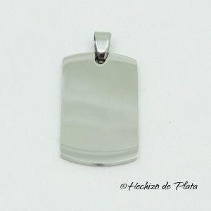 Placa de acero para grabar de Hechizo de Plata Joyería