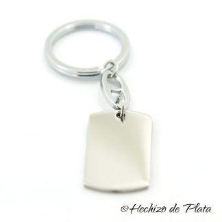 LLavero de acero personalizado de Hechizo de Plata Joyería