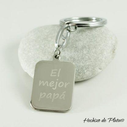 LLavero de acero para el día del padre de Hechizo de Plata Joyería