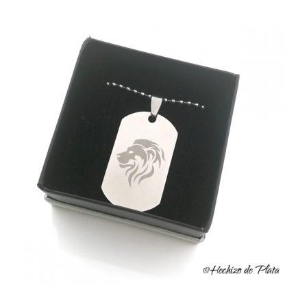 colgante chapa militar de Hechizo de Plata joyería
