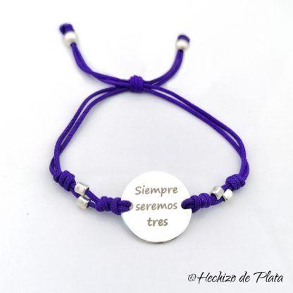 pulsera personalizada para grabar nombre de Hechizo de Plata joyería