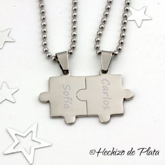 Colgante puzzle para grabar de Hechizo de Plata joyería