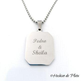 colgante de acero personalizado de Hechizo de Plata joyeria