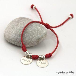 pulsera personalizada con nombre de Hechizo de Plata joyería