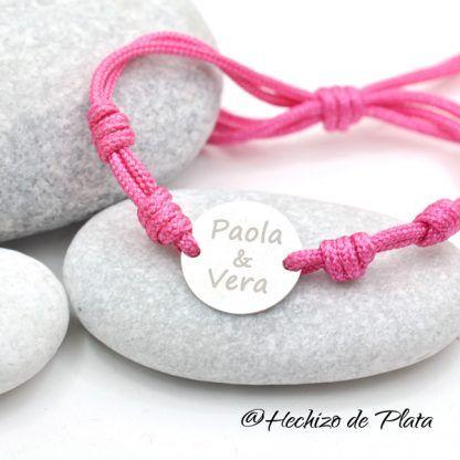 pulsera de cordon personalizada de Hechizo de Plata joyería