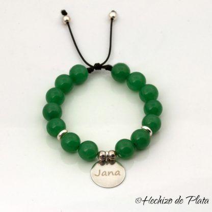pulsera ágatas verdes de Hechizo de Plata joyería