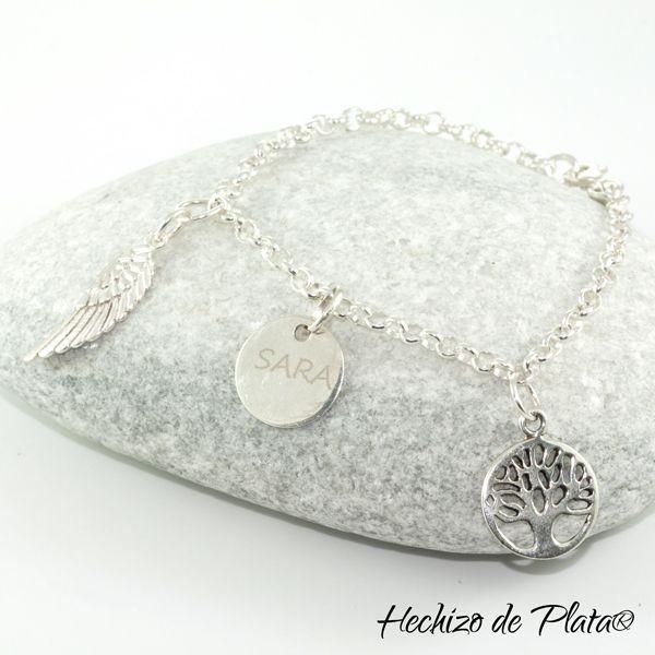 Pulsera de plata con charms de Hechizo de Plata Joyería