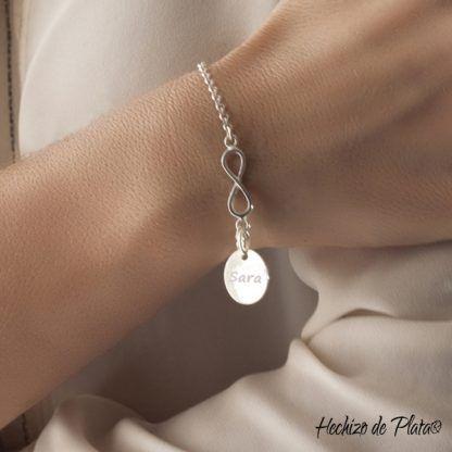 Pulsera personalizada de plata de Hechizo de Plata Joyería