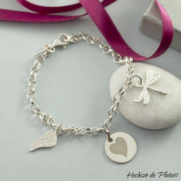 pulsera de plata personalizad a de Hechizo de Plata Joyería