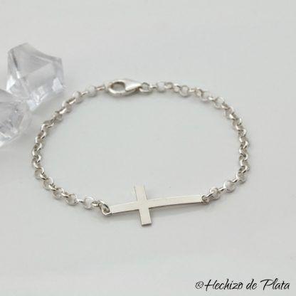 pulsera cruz de Hechizo de Plata joyería