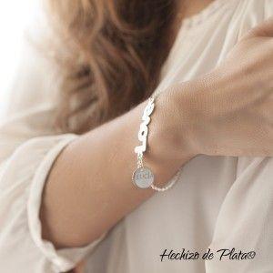 Pulsera de plata love personalizable de Hechizo de Plata Joyería