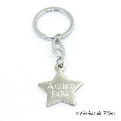llavero personalizado estrella de Hechizo de Plata joyería