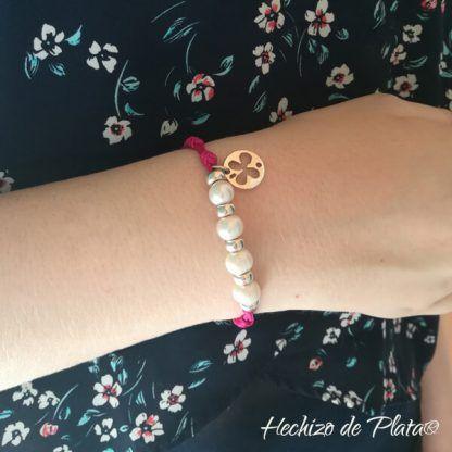 Pulsera personalizada con perlas de hechizo de Plata Joyería