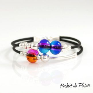 Pulsera personalizada en plata y cristales de Hechizo de Plata Joyería