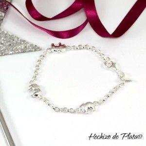 regalo original con pulsera personalizada de Hechizo de Plata Joyería