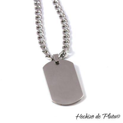 Chapa militar de acero personalizado de Hechizo de Plata Joyería