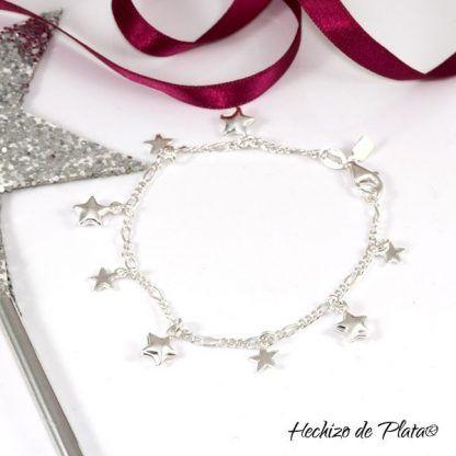 Pulsera personalizada con estrellas de Hechizo de Plata Joyería