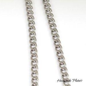 cadena de acero quirurgico de Hechizo de Plata joyería